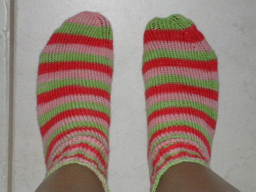Strawberry Shortcake Socks on Feet